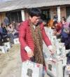仙姑山种养殖专业合作社为60余名贫困户捐献过年物资